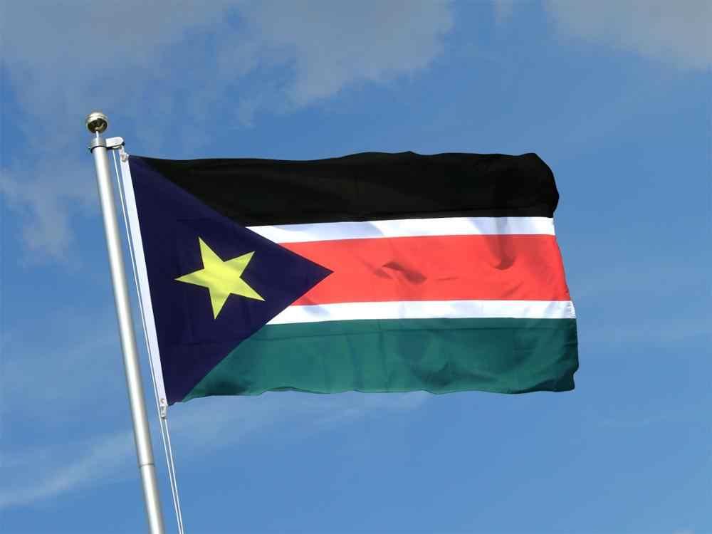 בוקר 3 * 5ft פוליאסטר מעופף הלאומי המדינה flagSouth סודאני דגל