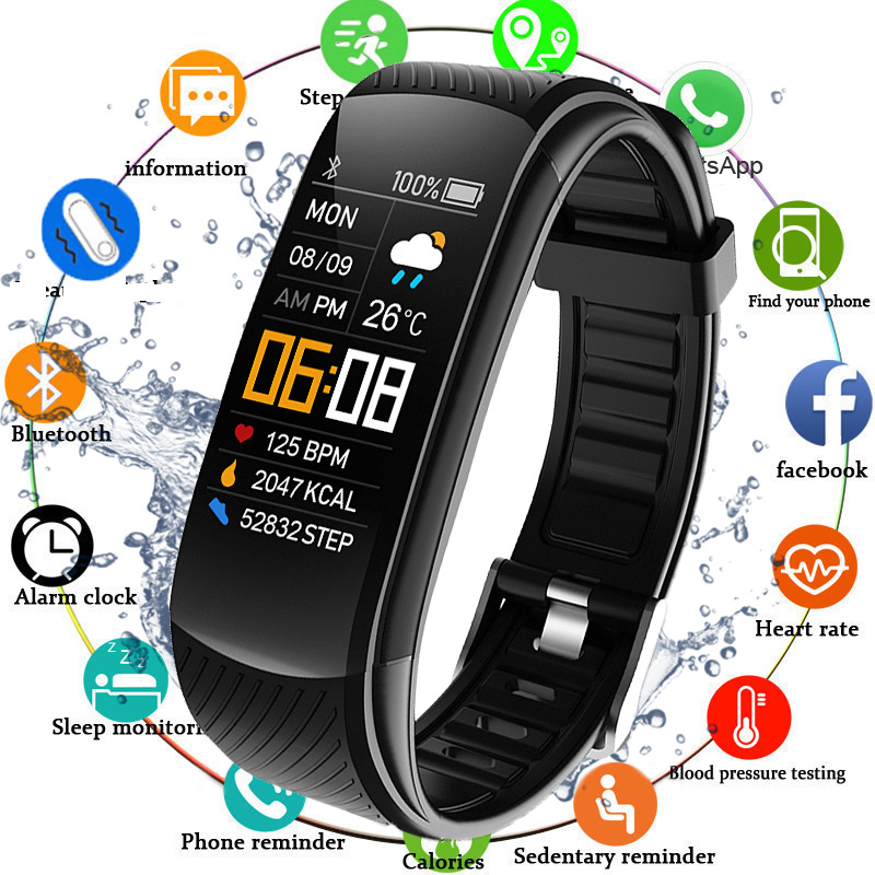 2020 Smart Watch Men Women Sport Smartwatch Blood Pressure Heart Rate Monitor Electronic Fitness Tracker Watch Ip67 Waterproof