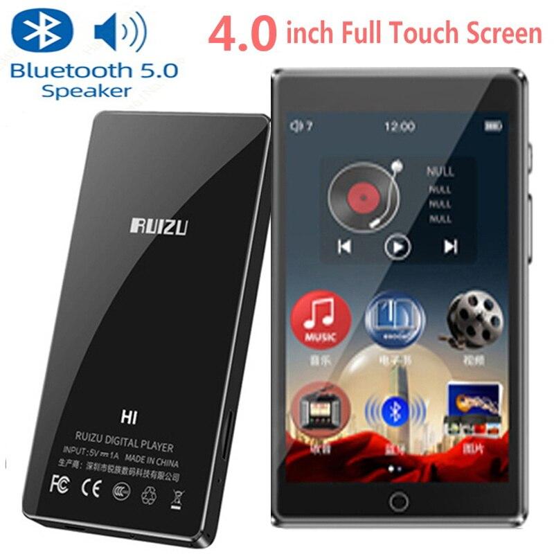 MP3 Player Bluetooth5.0 RUIZU H1 Full Touch Screen 4.0 Inch Built-in Speaker Support FM, Recorder Video E-book HIFI Music Player