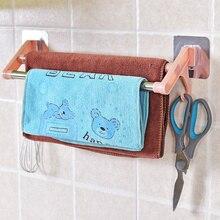 Оптимизированный Нержавеющая сталь вешалка для полотенец в ванную настенный Полотенца полка для ванной, кухни аксессуары двойная вешалка для полотенец