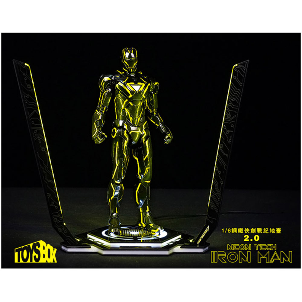 Toy-Box TB078 1/6 Scale Soldier Figure Accessories LED Light Iron Man Legacy 2.0 Platform 12'' Figure Scene Site Collection Toys