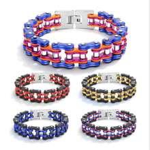 Men Jewelry Titanium steel Trendy Locomotive chain bracelet so171