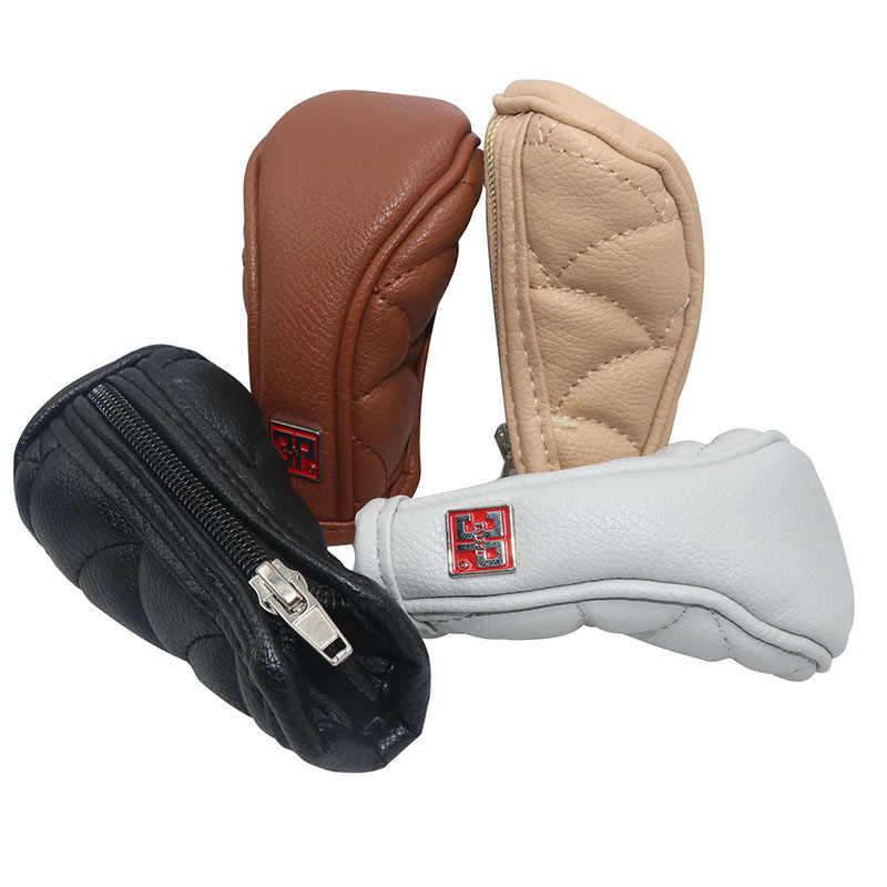 Luvas de couro com zíper para engrenagem de carro, decoração de carro, peças de automóvel modificadas, confortável, 1 peça