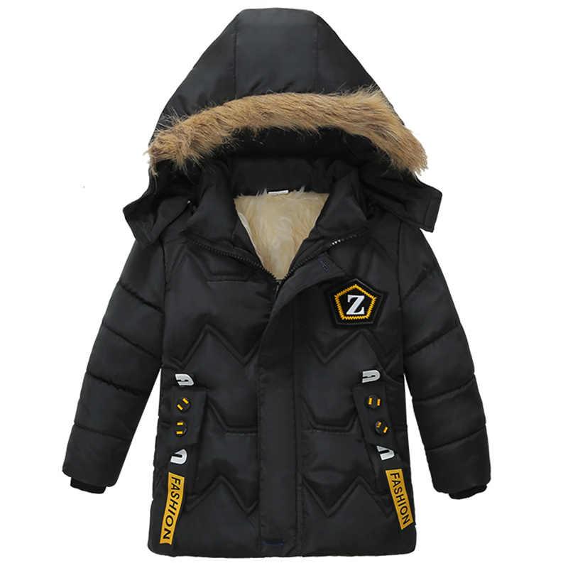 2019 בני אופנה חורף מעילי ילדים של ללבוש מעילי ילדים של בגדים מעיל תינוק ילד בגדי כותנה מעילים
