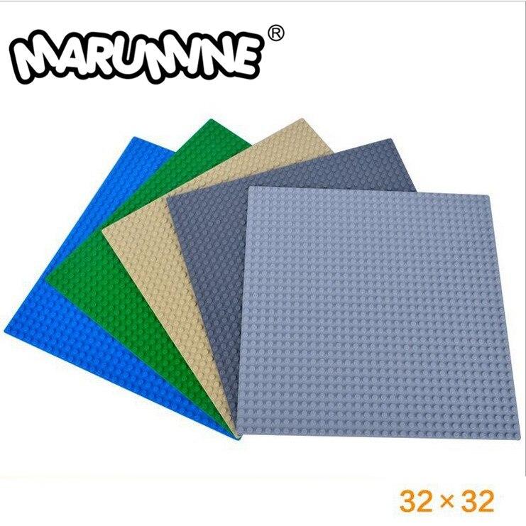 MARUMINE 2PCS 32 X 32 Dots Baseplate Classic DIY Building Blocks Parts Bulk 3811 Educational Bricks Toys
