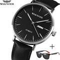 Мужские часы  автоматические механические часы  мужские часы с датой недели  модные кожаные водонепроницаемые часы  брендовые наручные час...