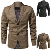 Jackets Male Brand Slothing Mens Bomber Jacket Men's Stylish Casual Solid Turn down Blazer Business Outwear Coat Suit Tops M 4XL