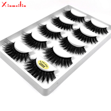 5 pairs 3D faux mink False eyelashes natural long individual thick fluffy volume dramatic makeup fake wholesale lashes