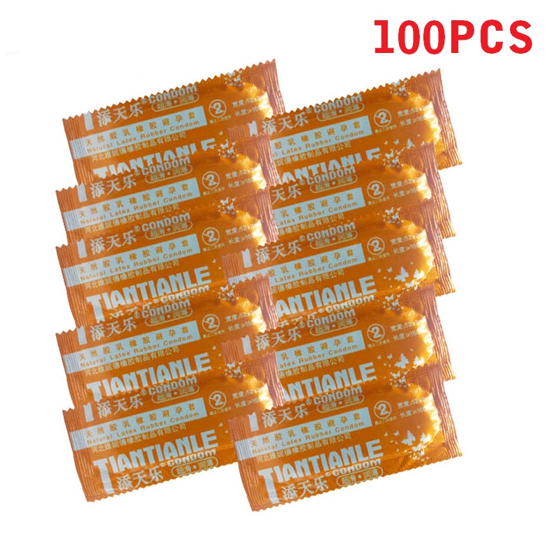 100 Pcs Condoms Adult Large Oil Condom Smooth Lubricated Condoms For Men Penis Contraception Sex Toys Sex Products title=