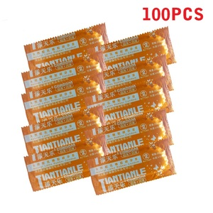 100 Pcs Condoms Adult Large Oil Condom Smooth Lubricated Condoms For Men Penis Contraception Sex Toys Sex Products(China)