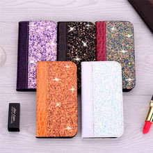 Glitter Bling Leather Case For iPhone 11 Pro XS Max XR Leather Flip Book Case For iPhone 7 8 6 6S Plus 5 5S Wallet Flip Cover flip case for iphone 7 case wallet multi cards 360 full protect classic pu leather bags for iphone 5s se 6s 7 8 plus x xr xs max