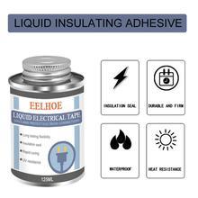 125ml Liquid Insulation Electrical Tape Tube Paste Anti-UV Fast Insulation Waterproof Fix Glue Dry Electronic Sealing Rubbe H0U0