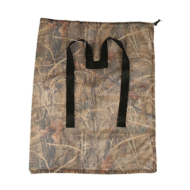 1 Pc Hunting Polyester Mesh Decoy Bag with Dry Grass Camouflage Printing Waterfowl Duck Goose Turkey Durable Decoy Bags with Duc|Fishing Tools| |  - title=