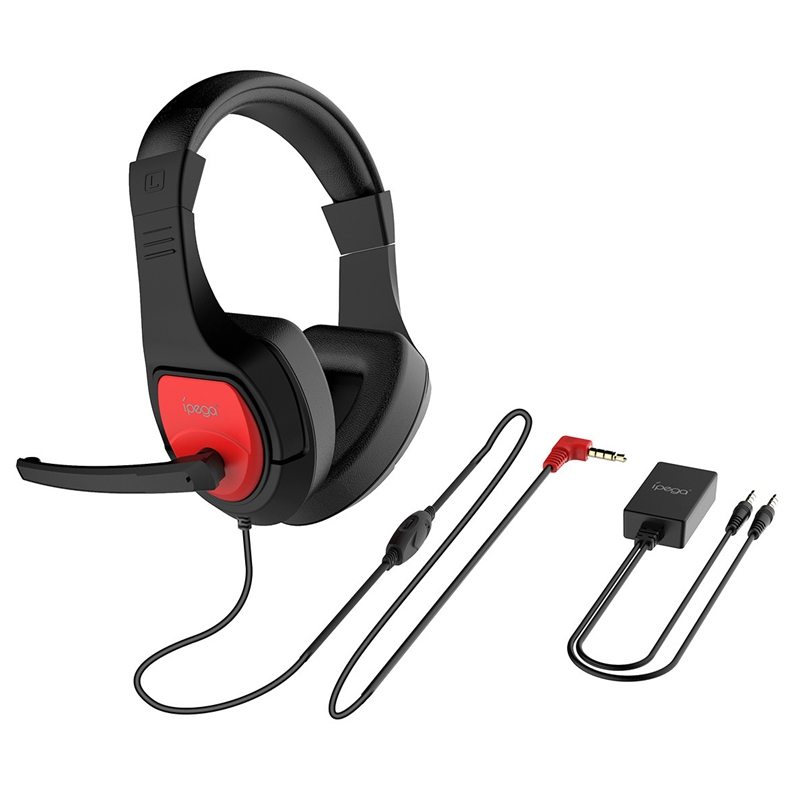 Ipega Pg-R001 Gaming Headphone With Adapter For N-Switch Ps4 Laptop Smartphone Chatting And Gaming