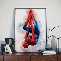 Superheroes Watercolor Poster (16 Different Designs) 19