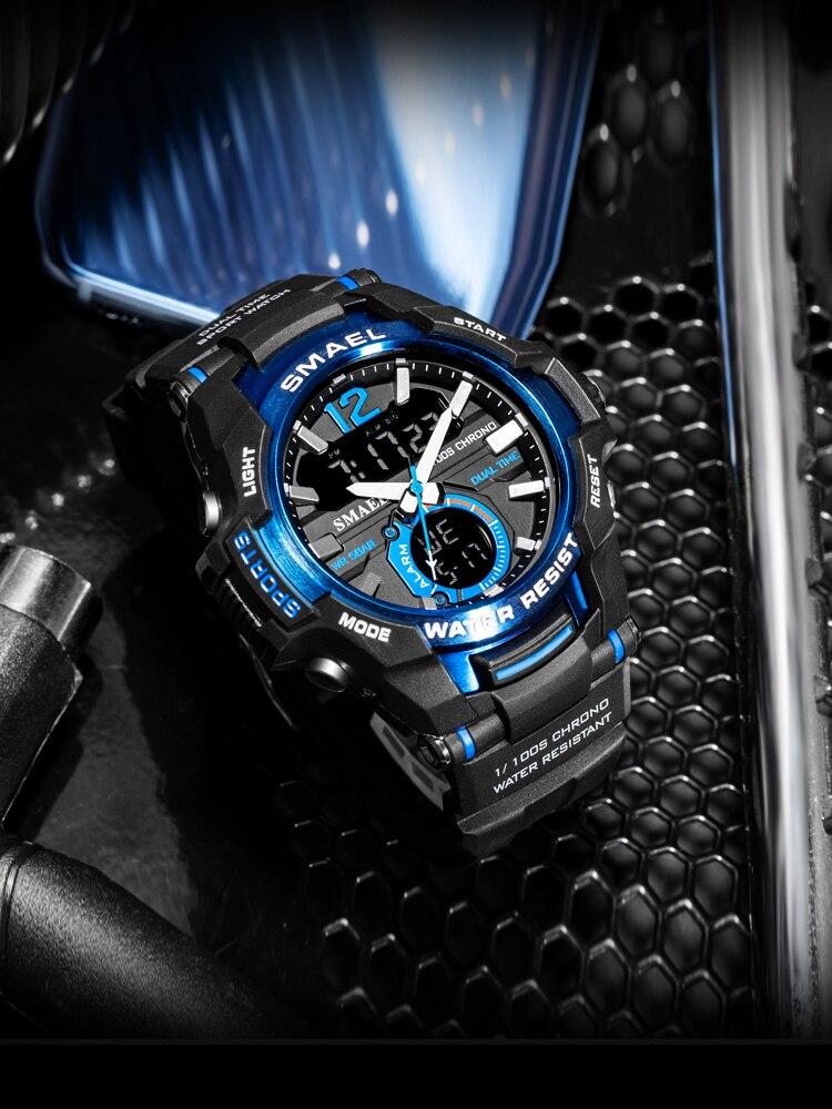 SMAEL Men Watches Clock 1805 Digital Military Waterproof Men's Relogio Masculino Sport