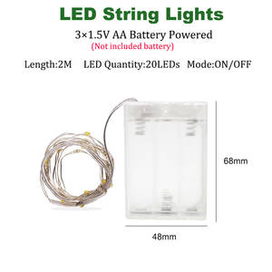 USB LED String-Lights Garland Christmas-Decoration Wedding Party Outdoor Battery-Operated