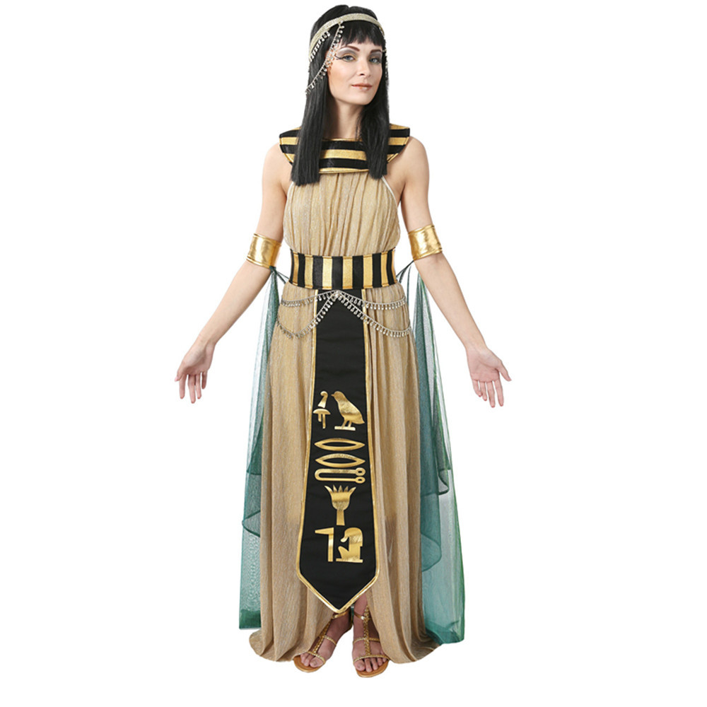 Egyptian Queen of Nile Cleopatra Costume Ancient Goddess Halloween Cosplay