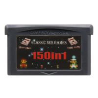 32 Bit Video Game Cartridge Console Card For Nintendo GBA Compilations Collection 150 In 1 English Language Version