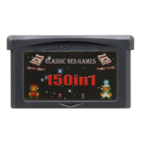 Image 1 - 32 Bit Video Game Cartridge Console Card for Nintendo GBA Compilations Collection 150 in 1 English Language Version