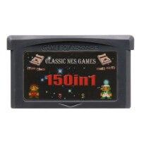 32 Bit video oyunu kartuşu konsolu kart Nintendo GBA Compilations koleksiyonu 150 in 1 İngilizce dil sürüm
