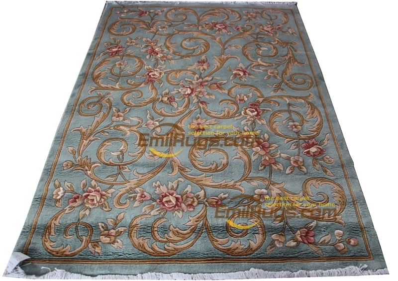 Large Room Rug Hand Knotted Carpet Embroidered New Listing Round Carpet For Home Decoration Modernism Wool Knitting Carpets