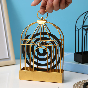 Creative Mosquito Coil Holder Nordic Style Birdcage Shape Summer Day Iron Mosquito Repellent Incenses Rack Plate Home Decoration 1