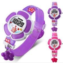 Модные электронные цифровые часы Spot Силиконовые Детские часы для мальчиков и девочек мультфильм цветочные наручные часы украшения 205 мм