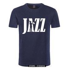 Engraçado jazz saxofone t camisa verão outono camisa retro tshirt nova impressão gráfica t camisa de algodão harajuku streetwear masculino