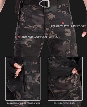 TAD Tactical Jackets Men Soft Shell Hiking Jacket Sets Army Waterproof Camo Hunting Clothes Shark Skin Military Jacket + Pants 5