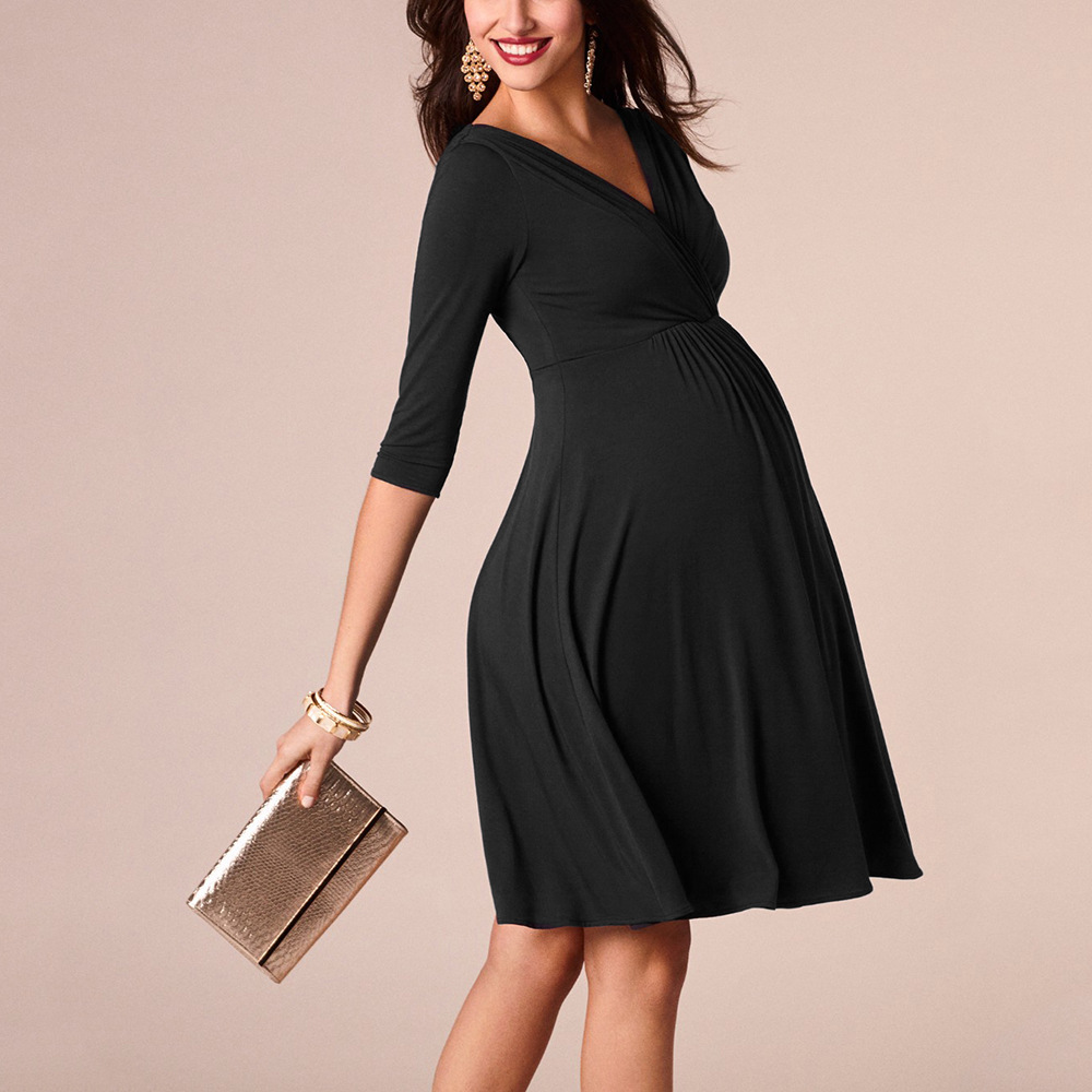 Cotton blend maternity sexy dresses for women for sale