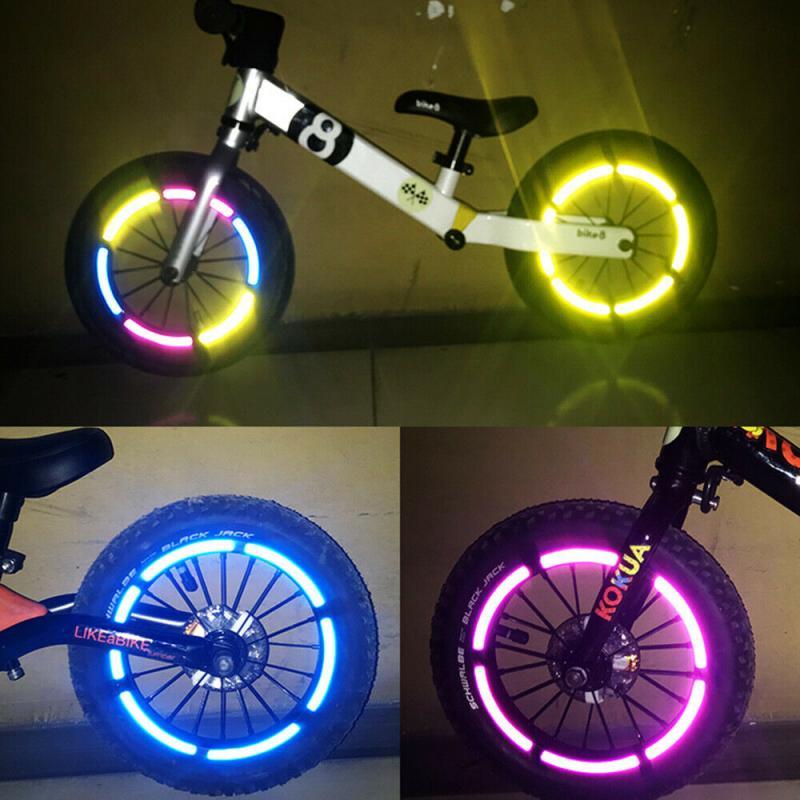Bicycle   Waterproof Tire Applique Motorcycle Reflective Decals Bike Stickers