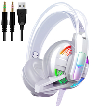 PS4 Gaming Headphone 4D Stereo RGB Marquee Earphones Wired Game Headset with Microphone for New Xbox One/Laptop/PC Tablet Gamer sades sa 810 gaming headset 3 5mm wired stereo ear headphone with microphone for pc laptop ps4 xbox one game head phones