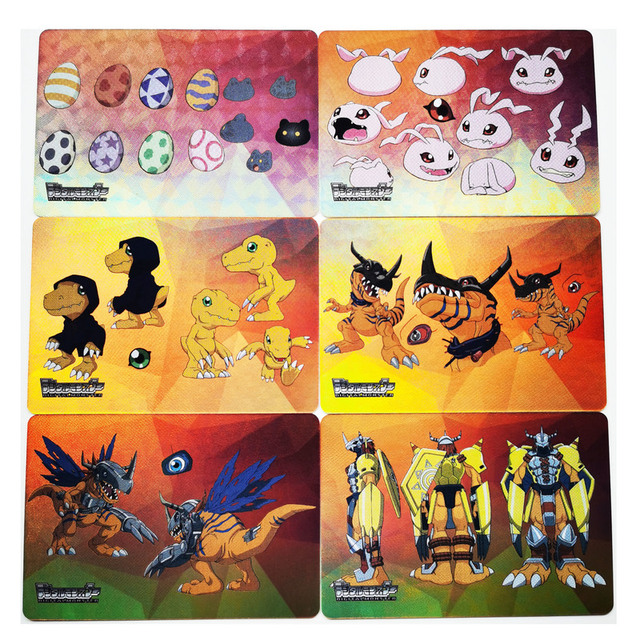 12pcs/set Digimon Adventure Digital Monster Digimon Evolutionary Path Hobby Collectibles Game Anime Collection Cards