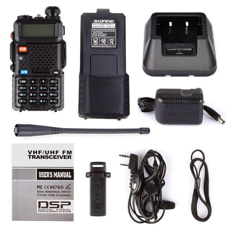 Baofeng Walkie Talkie uv 5r 3800 Dual Band VHF UHF 136-174/400-520mhz Two-way Radio walky talky uv-5r Radio Station 6