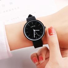 Fashion High Quality For Women Ladies Lovers Round Dial Soft Silicone Adjustable Strap Analog Quartz Watch relogio feminin