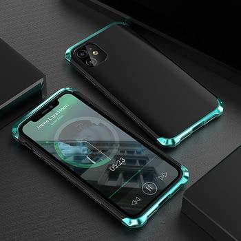 Luxury Shockproof Element Metal Case For Iphone 11Pro xs Max x xr se 7 8 plus hin Hard Aluminium Alloy Hybrid Plastic Back Cover