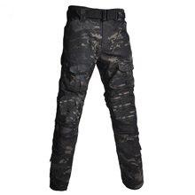 Мужские военные камуфляжные тактические брюки боевой водоотталкивающий