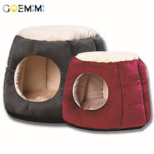 Warm Cotton Cat Cave House Pet Bed Dog Lovely Soft Suitable Cushion High Quality Products