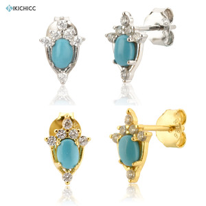 Kikichicc 925 Sterling Silver Gold Ovals