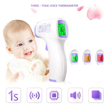 Digital Infrared Thermometer Non-Contact Baby Forehead Ear Adult Body Surface Fever IR Children Temperature Meter Gun Random