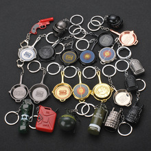 2019 Game PUBG Keychain Cosplay Props Alloy Level 3 Helmet Armor Plane Pan Model Keyring PLAYERUNKNOWNS BATTLEGROUNDS Christmas цена