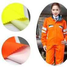 Полиуретановая ткань En20471 экологическая оксфордская Ткань флуоресцентный оранжевый дождевик санитарная Рабочая Ткань