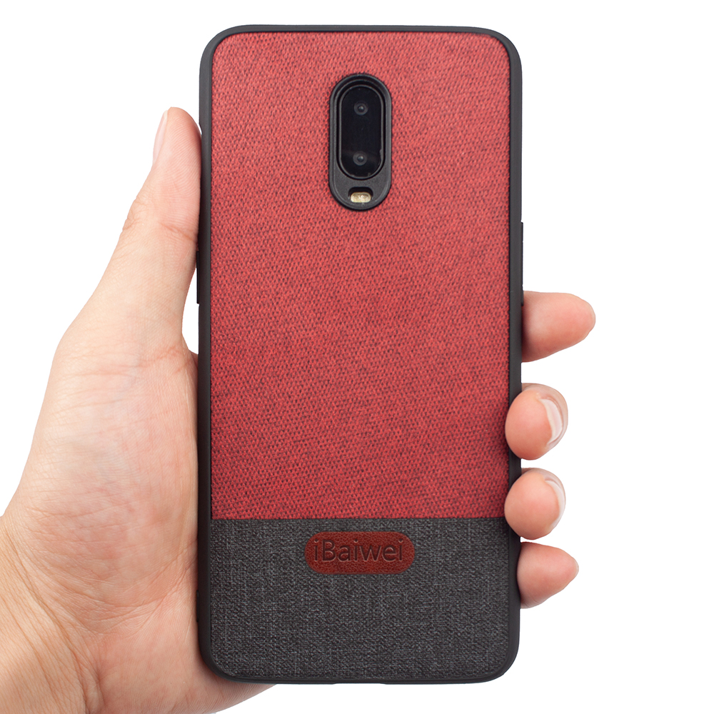 1+<font><b>6T</b></font> <font><b>Smartphone</b></font> Case for <font><b>Oneplus</b></font> <font><b>6T</b></font> Fabric PC Back Cover Silicone Soft Edge Protection Shells for One Plus <font><b>6T</b></font> Shockproof Coque image