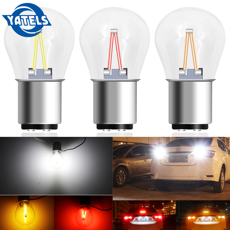 1 PCS  1157 BAY15D Led Brake Lights Bulb Super Bright P21/5w Led Car Accessories Car Bulbs Auto Light Source Yellow Red White 12v