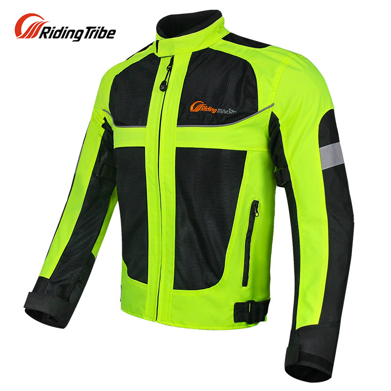 Pro-Biker Jackets Breathable Racing Suits Motorcycle Clothing Men's Riding Clothes Spring And Summer Fluorescence Green Reflecti