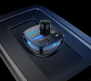 Image 3 - Bluetooth 5.0 MP3 çalar Handsfree araç kiti FM verici destek TF kart U disk QC3.012V hızlı çift USB araç