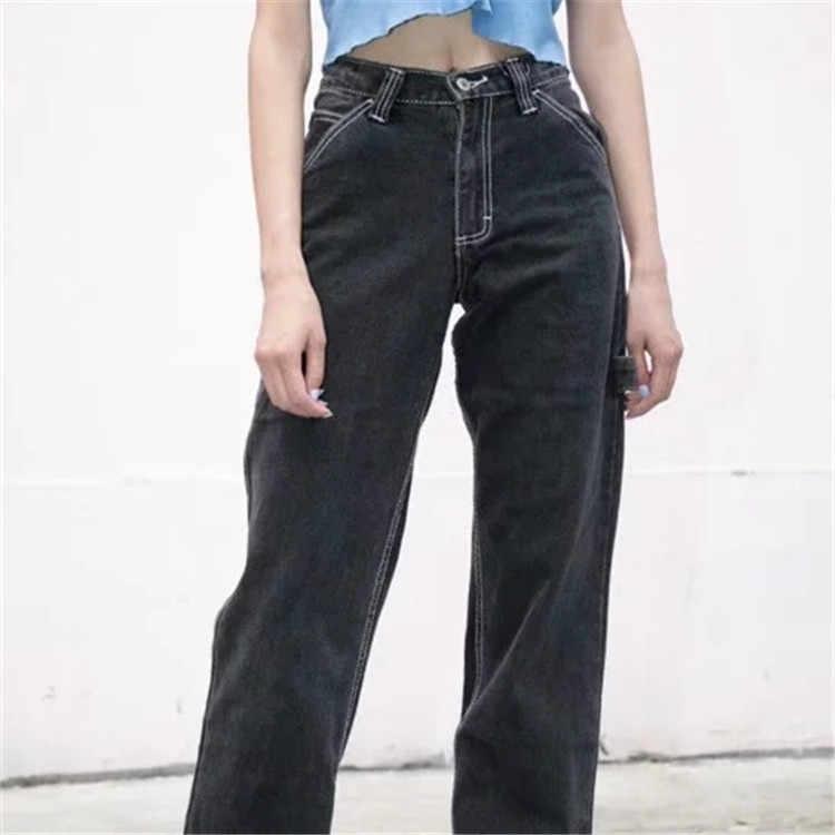 Wixra Pantalones Rectos Con Bolsillos Para Mujer Pantalon Largo Liso Con Bolsillos Para Primavera Y Otono 2020 Pantalones Y Pantalones Capri Aliexpress