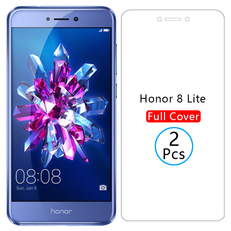 Protective Glass On Honor 8 Lite Screen Protector Tempered Glas For Huawei Honer 8 Light 8lite 5.2 Huawey Huwei Hawei Huawi Onor
