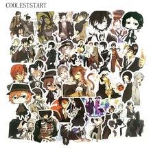 50Pcs/Pack Graffiti Stickers Bungou Stray Dogs Japanese Cartoon For Luggage Laptop Refrigerator Motorcycle Skateboard Pegatinas
